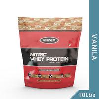 Big Muscles Nitric Whey 10 Lbs (Vanilla )