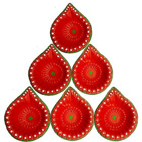 only4you Handmade Ceramic Matki Diye Set