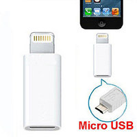 Micro USB To Lightning Converter Charger Adapter For IPhone 6, IPhone 6 Plus, IPhone 5s, IPhone 5, IPad 4th Gen, IPod Touch 5th Gen, IPod Nano 7th Gen