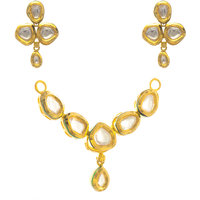 Aretha Jewels Tremendous Gold Plated Necklace Set in 925 Sterling Silver - JSPE0035