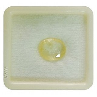 Dinesh Enterprises,Yellow Sapphire Ceylon Quality Pukhraj Gemstone 8.25 Ratti / 7.42 CARAT 100  ORIGINAL CERTIFIED NATU