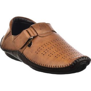 G.T.B Men's Casual Loafer Shoes (TAN)