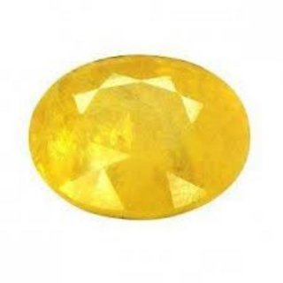 Yellow Sapphire Natural Certified Original Unheated Gemstone 5.5 Carat BY Durga gems