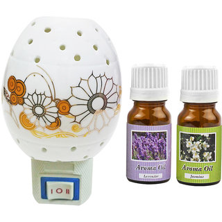 Cocodoes Electric Ceramic Aroma Gold Diffuser with Aroma Oil 10ML(LAVENDER JASMINE) for office hotel home fragrance