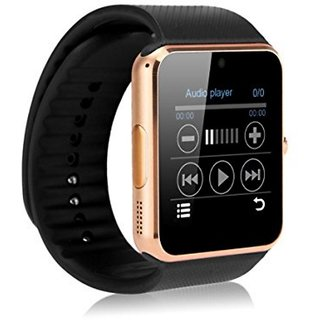 GT08 Smart Watch 32 GB Memory Card Slot and Fitness Tracker and bluetooth smart watch android brown for smartphone