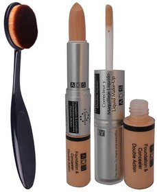 ADS Foundation And Concealer with foundation brush (Set of 2)