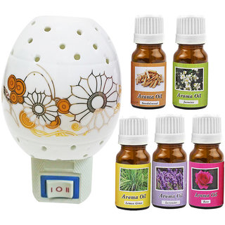 Cocodoes Electric Ceramic Aroma Gold Diffuser with Aroma Oil 10ML(LV RS JAS LG SW) for office hotel home fragrance