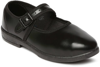 Paragon Women Black School Shoes
