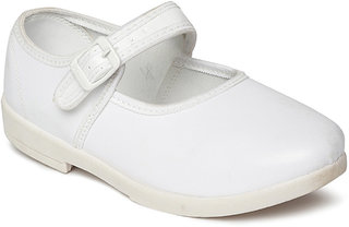 Paragon Women White School Shoes