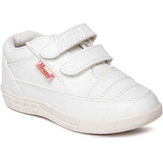 Paragon Kids White School Shoes