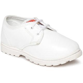 Paragon Kids White School Shoes