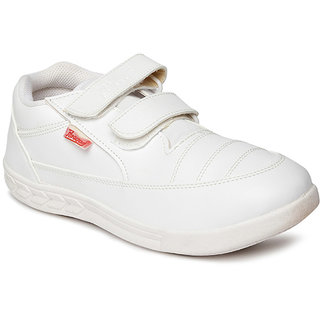 Paragon Boys White School Shoes