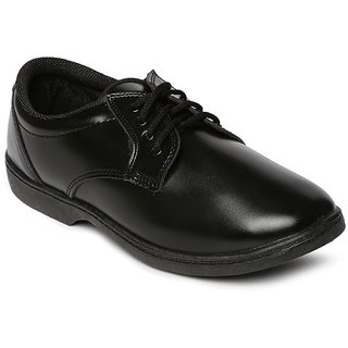 Paragon Boys Black School Shoes
