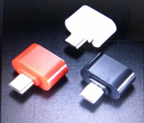 Micro USB Mini OTG Adapter For Smartphones (Assorted Color)
