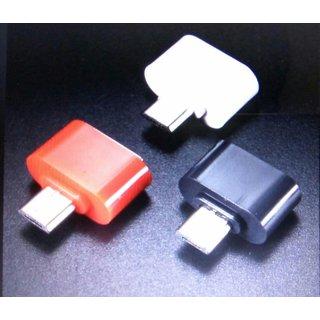 Micro USB Mini OTG Adapter For Smartphones (Assorted Color)