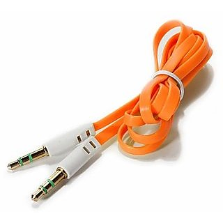 Long and Flat AUX Cable (Assorted Colors)
