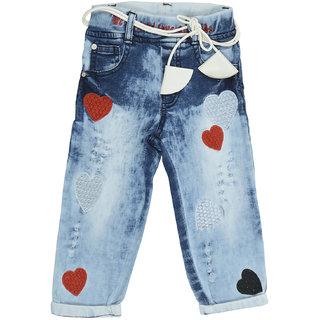 Carrel Blue Denim Fabric Girls Jeans