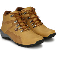 LAYASA Mens Multicolor Lace-up Smart Boots