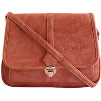 Haqeeba Pink Leatherette Material Sling Bags For Women - 128958527
