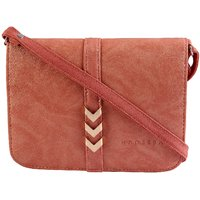 Haqeeba Pink Leatherette Material Sling Bags For Women - 128958639