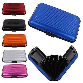 combo of 5 pcs. Aluma multi pocket wallet / case / ATM debit credit card holder in 5 diff. colours