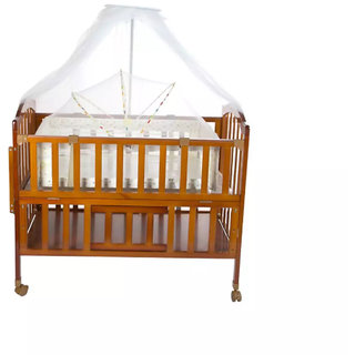 Oh Baby Baby Wooden Cradle (jhulla and palna) With Mosquito Net For Your Kids SE-JP- 43