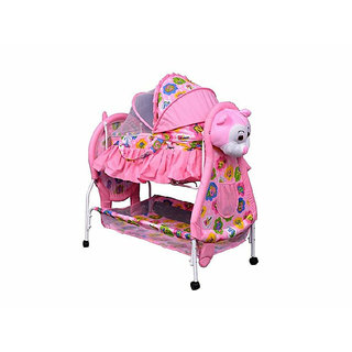 Oh Baby Baby Iron Cradle (jhulla and palna) With Mosquito Net For Your Kids SE-JP-46