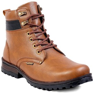 Woakers Men's Tan Lace-up Boots