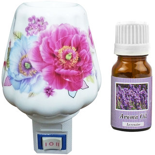 Cocodoes Electric Cup2 Ceramic Aroma Diffuser with Aroma Oil 10ml(LAVENDER) for office hotel home fragrance