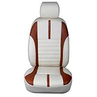 Musicar Tata Safari storme Beige Leatherite Car Seat Cover with 1 Year Warranty And  Steering cover  Free