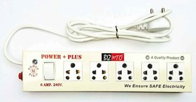 Bizinto Power Plus 5+1 Socket Extension Board in Metal