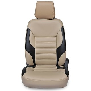 Musicar Chevrolet Enjoy Beige  Leatherite Car Seat Cover with 1 Year Warranty And Steering cover  Free
