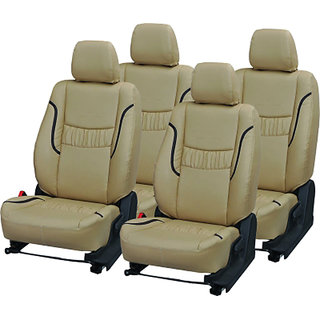 Musicar Volkswagen  Vento Beige  Leatherite Car Seat Cover with 1 Year Warranty And Steering cover  Free