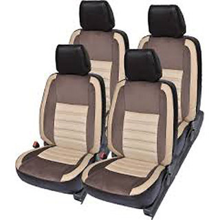 Musicar Hyundai Grand I10 Beige Leatherite Car Seat Cover with1 Year Warranty And  Steering cover  Free