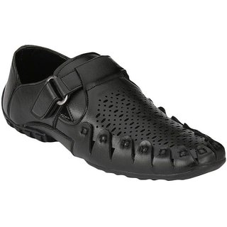 Layasa Men's Black Velcro Sandals