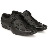 Layasa Men's Black Velcro Sandals