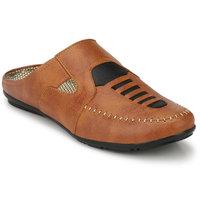 Layasa Men's Tan Velcro Sandals - 128981407