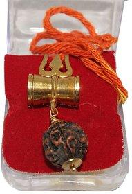 Bhavik  Shiv Shakti Kawach Pendant With Rudraksha