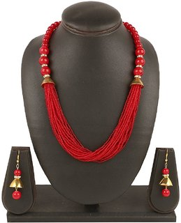RWT RED Designer Necklace For Women (12 Layer)