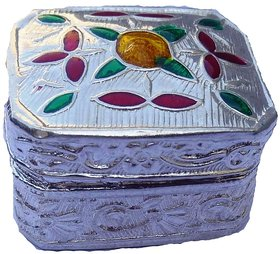 Ankit Collection Sterling Silver Sindoor Box (Sindoor Dani) for Pooja (AC163BOPOOJA)