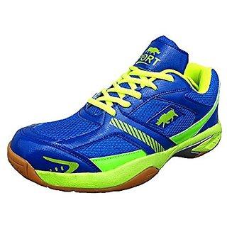 Port Logan Mens Blue Lace-up Badminton Shoes