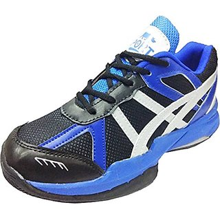 Port Jollie Mens Blue Lace-up Badminton Shoes