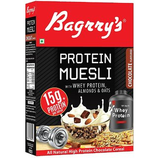 Bagrry's Protein Muesli with Whey Protein , Almonds and Oats, 500g