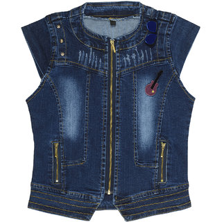 Carrel Denim Fabric Girls Jacket