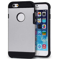 Callmate Tough Hybird Hard BackCover For IPhone 6 4.7 Inch With Free SG - Sliver