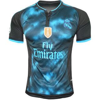 New RM Multi Black club fooball Half Sleeve jersey