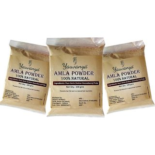 Yauvanya Pure Amla Powder 3X100 gms