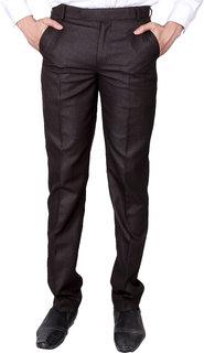 VILLAIN Men Gold Slim Fit Formal Trouser