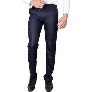 aa7966c8078 Buy VILLAIN Blue Coloured Slim Fit Formal Pants for men Online - Get 50% Off