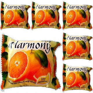 Harmony Orange Fruit Soap (Pack of 6 - 75 grams)